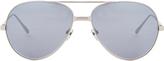Linda Farrow Luxe Matte Aviator Sunglasses