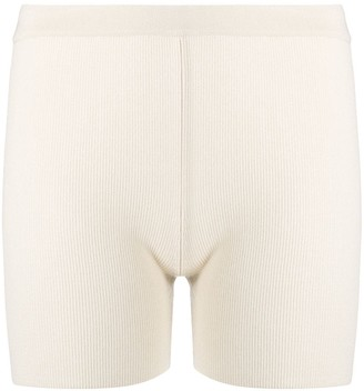 Jacquemus Fine-Knit Fitted Shorts