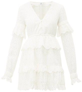 Sir - Amelie Broderie-anglaise Cotton Mini Dress - Womens - Ivory
