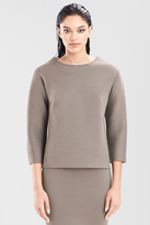 Josie Natori Double Face Bonded Jersey Pullover