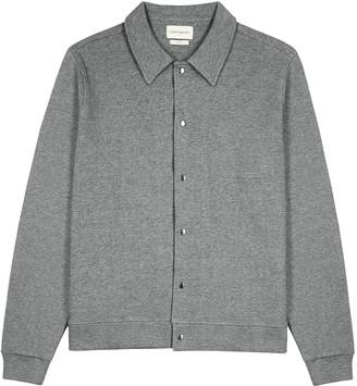 Oliver Spencer Rundell Grey Waffle-knit Cotton Overshirt