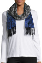 Lord & Taylor Ombre Print and Fringe Cashmere Scarf
