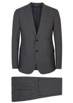 Armani Collezioni M-line Charcoal Stretch Wool Suit