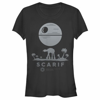 Star Wars Women's Rogue One Ombre Scarif Crew Neck Graphic T-Shirt