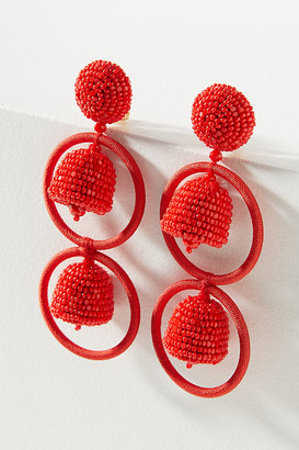 Sachin + Babi Victoria Clip-On Earrings By in Red Size ALL