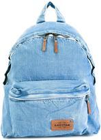 Eastpak zip up denim backpack