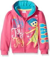 Disney Little Girls Inside Out Yay Joy Hoodie
