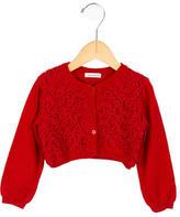 Dolce & Gabbana Girls' Crochet-Paneled Wool Cardigan