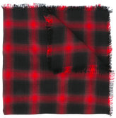 Saint Laurent raw edge checked scarf - women - Silk/Cashmere/Wool - One Size