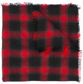 Saint Laurent raw edge checked scarf - women - Wool/Cashmere/Silk - One Size