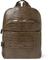 Santiago Gonzalez Crocodile Backpack - Army green