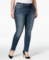 INC International Concepts Plus Size Slim-Tech Skinny Jeans, Created for Macy's