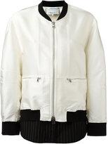 3.1 Phillip Lim contrast hem bomber jacket - women - Silk/Cotton/Polyester/Viscose - 8