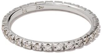 Ileana Makri 18kt White Gold Diamond Classic Band Ring