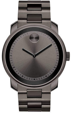 Movado Bold 42.5mm Gunmetal Stainless Steel Watch