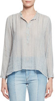 Isabel Marant Joden Striped Tunic Blouse, Blue
