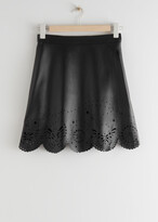 Thumbnail for your product : And other stories Laser Cut Leather Mini Skirt