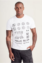 True Religion Throwback Logo Mens Tee