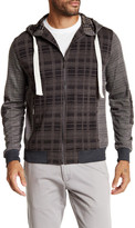 Smash Wear Plaid Graph Zip Front Hoodie