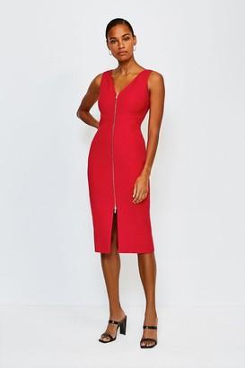 Karen Millen Zip Front Pencil Dress