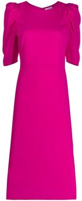 P.A.R.O.S.H. Puff-Sleeves Midi Dress