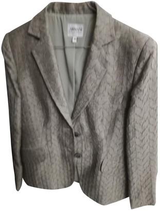 Armani Collezioni Ecru Linen Jacket for Women