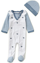 Wendy Bellissimo Baby Boys 3-9 Months Mixed-Media-Printed Footed Coveralls And Hat Set