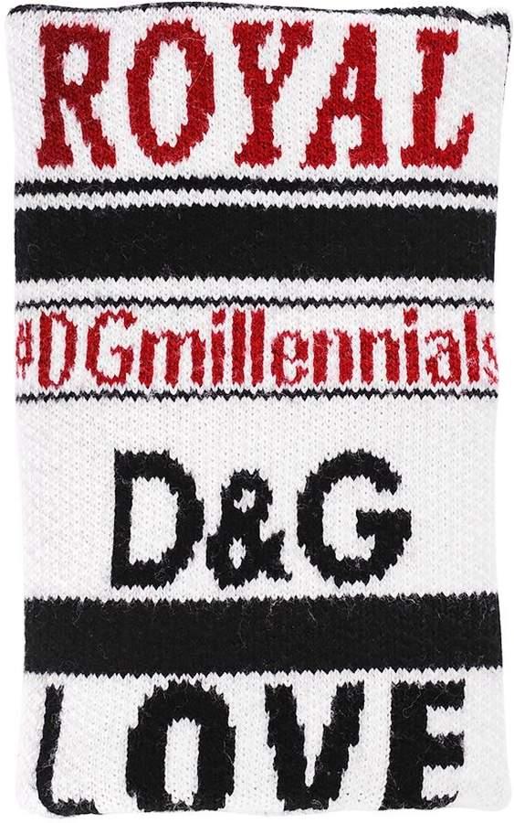 Dolce & Gabbana Dgmillennials Jacquard Wool Cuff