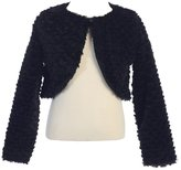 Lito Big Girls Faux Fur Soft Swirl Long Sleeved Stylish Bolero
