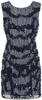 Little Mistress Kimmy Navy Hand Embellished Mini Dress