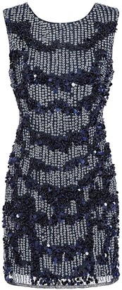 Little Mistress Kimmy Navy Hand Embellished Mini Dress