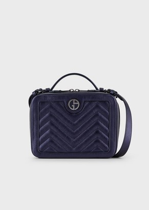 Giorgio Armani Laminated, Quilted, Nappa Leather Vanity Case