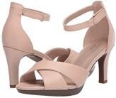 Clarks Adriel Cove (Blush Leather) Women's Shoes