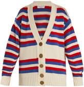Sonia Rykiel Oversized striped wool cardigan