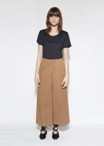 Marni Cotton & Wool Blend Wide Leg Trouser