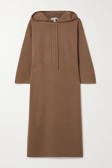 Max Mara Lerici Hooded Wool Dress - Light brown
