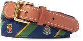 Ralph Lauren Striped Crest Webbed Belt