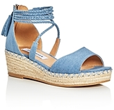 Steve Madden Girls' Denim Espadrille Platform Wedge Sandals - Little Kid, Big Kid