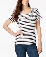 Karen Scott Petite Embellished T-Shirt, Created for Macy's