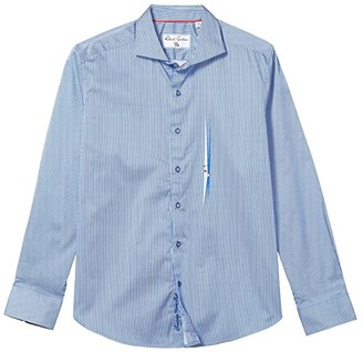 Robert Graham Voyeur Button-Up Shirt (Navy) Men's Clothing