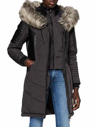 Only Women's ONLLINETTE Fur Hood Nylon Coat OTW Down Alternative