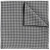 Charles Tyrwhitt Black and White Puppytooth Classic Silk Pocket Square
