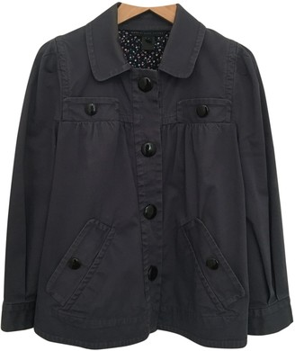 Marc by Marc Jacobs Blue Cotton Leather Jacket for Women