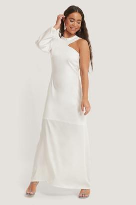 NA-KD One Sleeve Maxi Dress