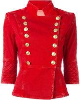 Pierre Balmain button up denim jacket - women - Cotton/Spandex/Elastane - 42