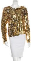 Chris Benz Metallic Sequined Jacket