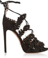 Alaia Appliquéd suede sandals