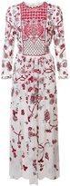 Monique Lhuillier embroidered midi dress