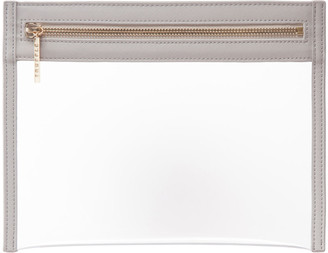 Truffle Clarity Clutch Bag, Small