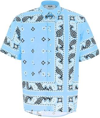 MSGM Paisley Print Short-Sleeve Shirt